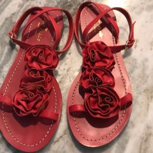 Kate Spade Beautiful Red Sandals
